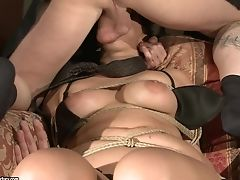 With Succulent Knockers Takes Stud's Stiff Meat Pole So Fucking Deep After Make-out