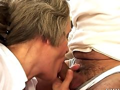 Another Chubby Granny Has Oral Hook-up