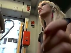 This Blonde Is My Kind Of Doll And She Loves Sucking My Dick On The Public Bus