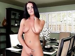 Rahyndee With Massive Knockers And Trimmed Snatch Gear Fucking Her Muff Slot