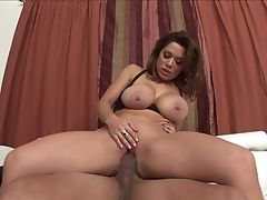 Dark Haired Sienna West With Big Melons Eating Sergio's Muscled Sturdy Dick Like There's No Tomorrow