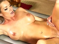 Buxom Milfie Masseuse Silvia Saige Is So Into Mish Right In The Salon