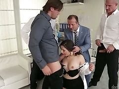 Office Cockslut Gabrielle Lati Gets Dual Penetrated During Xxx Group Fucky-fucky With Co-employees