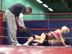 Sexy Grappling With Nude Paige Fox And Lucy Bell