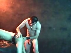 Trussed Boy Released By His Old Master For A Facial Cumshot Money-shot
