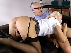 Stockings Unexperienced Sixtynining Oldman