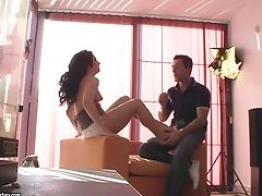 Behind The Scenes Of Sensuous Bang-out With A Lengthy Legged Footsie Stunner