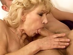 Matures With Phat Slave Gets Her Gullet Fucked To Death By Hot Man