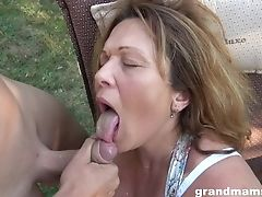 Having Being Frigged Outdoors Matures Chubby Housewife Works On Dicks