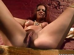 Red-haired Tramp Lets Dude Inject Her Inject The Exit-door In Ass Fucking Act