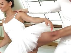 Nice Looking Charming Ballerina Keira Gets Poked In The Dancing Hall