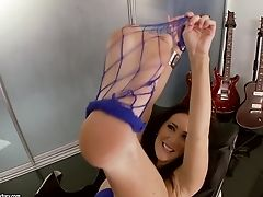 Bootless Jayden Jaymes Stuffs Stockings In Her Cootchie