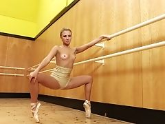 Slender Ballerina Jati Takes Off Her Clothes And Shows Off Her Twat