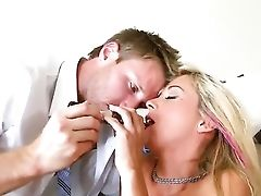 Glamour Sexy Blonde Cassandra Cruz Is Being Seduced And Fucked Hard By Her Workmate Dude Alex Jones.