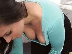 Beautiful Boobies Of Youthfull And Sexy Assistant Charlie Rose