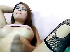 Tranny Bombshell Plays Her Beef Whistle