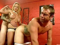 Two Dudes And One Whorey Chick Darling Love Having Dirty Threesome In A Romp Sway