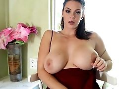 Sexy Alison Plays With Her Big Tits And Humid Muff