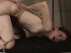 Ginger-haired Has Fire In Her Eyes As She Gets Her Pretty Face Painted With Man Pleasure Gel After Fuck-a-thon With Horny Dude