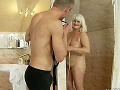 Matures Has Fire In Her Eyes As She Gets Jism Soaked After Intercourse With Hot Dude
