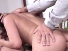 Anal Invasion Threesome In The Office With Slender Geni Juice